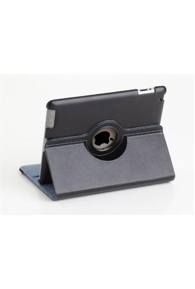 Romeca iPad 2/New iPad Siyah 360 Derece Dönebilen Kılıf