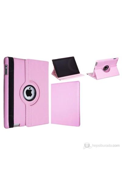 Romeca iPad 2/New iPad Pembe 360 Derece Dönebilen Kılıf