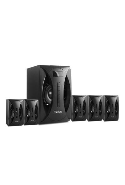 Mikado MD-512 5+1 Siyah Fm Radyolu Speaker