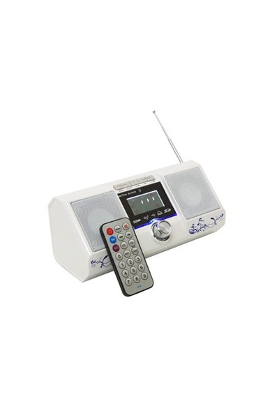 Mikado MD-805FM Beyaz Usb+SD+Fm LCD Ekran Müzik Kutusu
