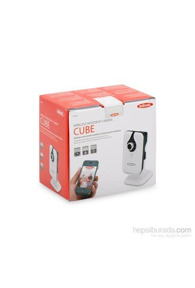 Ednet Cube Wireless VGA 640x480 Gece & Gündüz İç Mekan IP Kamera (ED-87240)