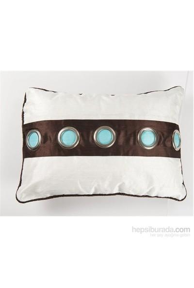 I Love Home Yuvarlak Metal Düğmeli Yastık