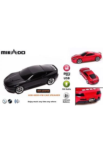 Mikado MD-600FM Mikro SD+FM Destekli Araba Şekilli Müzik Kutusu