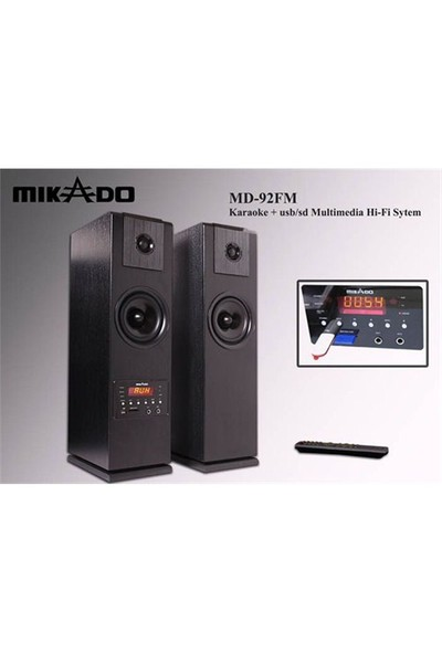 Mikado MD-92FM 2.0 Usb+SD+FM Radyolu Uzaktan Kumandalı Speaker