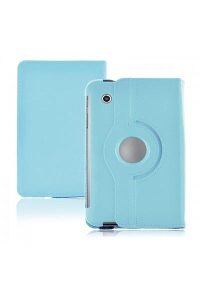 Romeca Samsung P6200 Galaxy Tab 2 360 Derece Dönebilen Mavi Kılıf