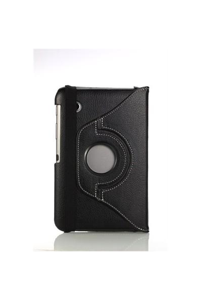 Romeca Samsung P6200 Galaxy Tab 2 360 Derece Dönebilen Siyah Kılıf