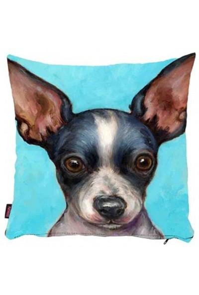 Bengü Accessories Köpek Desenli Dekoratif Yastık 10 40X40 Cm