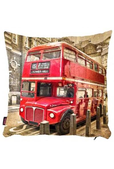 Bengü Accessories Londra Konseptli Dekoratif Yastık 4 40X40 Cm