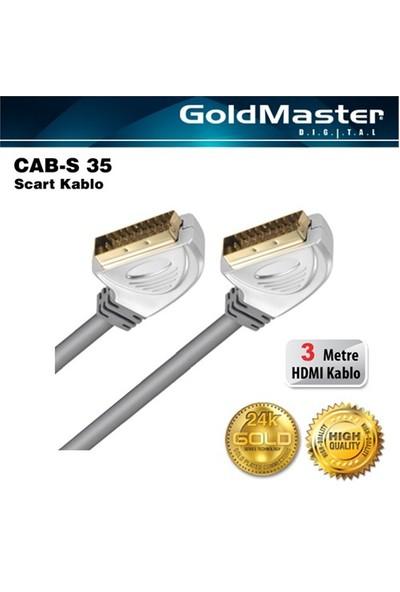 Goldmaster Cab-S35 Scart Kablo (3 metre)