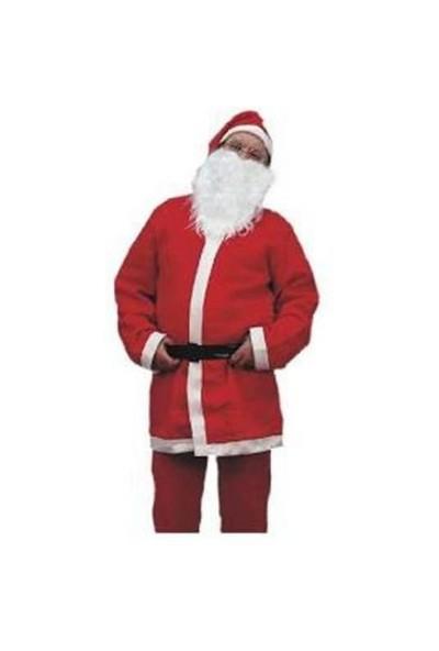 Elyaf Noel Baba Kostümü Yetişkin