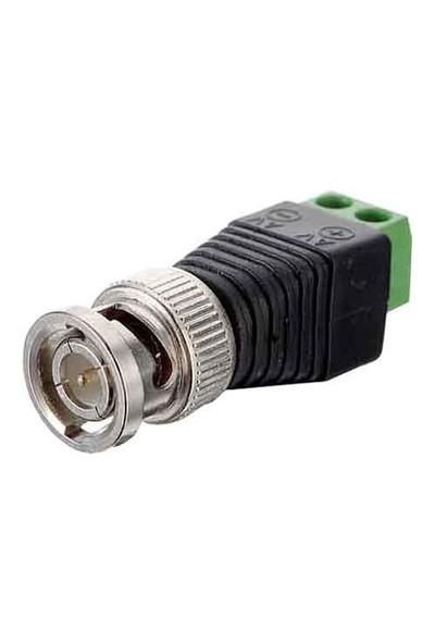 Opax Yeşil Klemensli Bnc Konnektör Plastic Bnc-A 10'Lu Paket