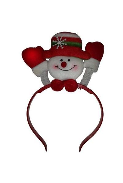 Şapkalı Kardan Adam Işıklı Yılbaşı Taç
