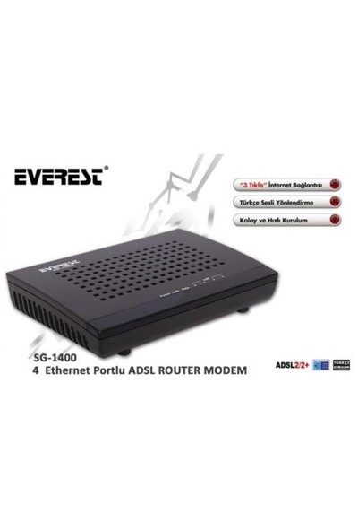 Everest SG-1400 4 Port Adsl Router Modem
