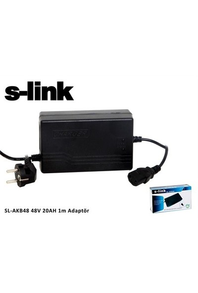 S-Link Sl-Akb48 48V 20Ah 1M Bisiklet Akü Şarj Adaptör