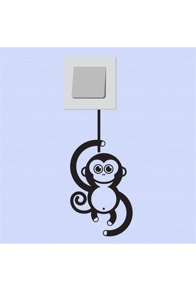Modelce Daldaki Maymun Priz Sticker
