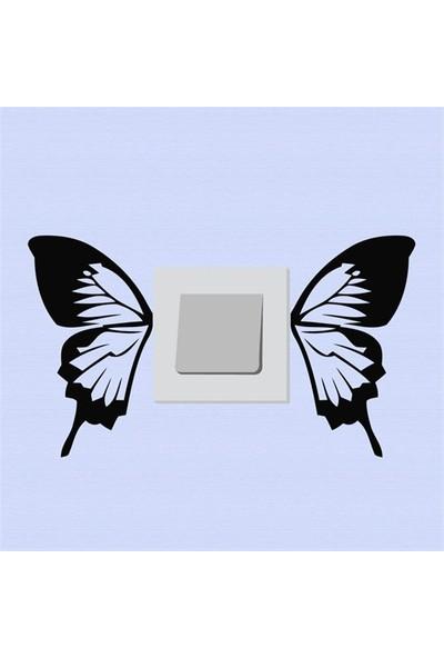 Modelce Kelebek Kanat Priz Sticker