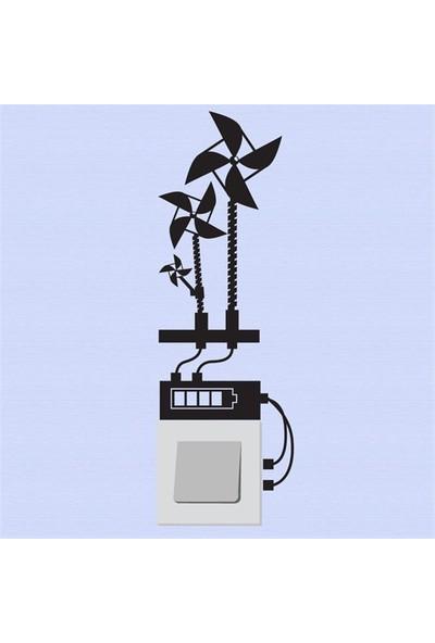 Modelce Rüzgar Gülü Priz Sticker