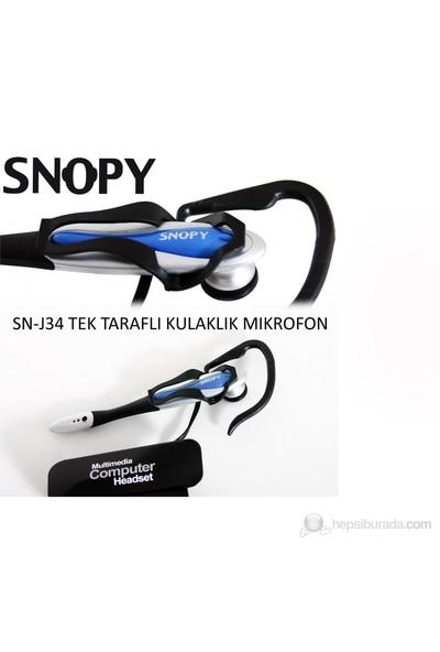 Snopy SN-J34 Skype Kulaklıklı Mikrofon