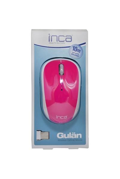 Inca IWM-111RMP Track Red Sensör Pembe Kablosuz Nano Alıcılı Mouse