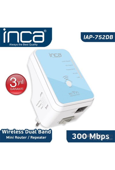 Inca IAP-752DB Wireless 300 Mbps 5 GHz DualBand Mini Router/ Repeater