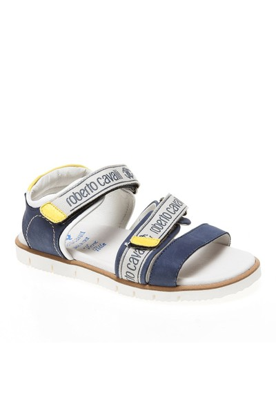 Roberto Cavalli 32-33-34-35 Cf40626 Çocuk Ayakkabı Nabuk Blu