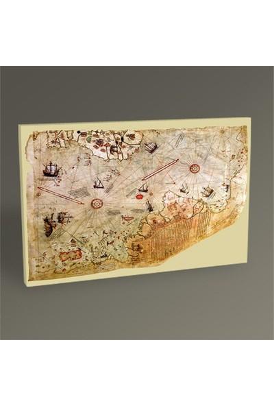 Tablo 360 Piri Reis Dünya Haritası Tablo 75X50
