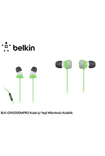 Belkin Blk-G1h2000btpro Kulak İçi Yeşil Mikrofonlu Kulaklık