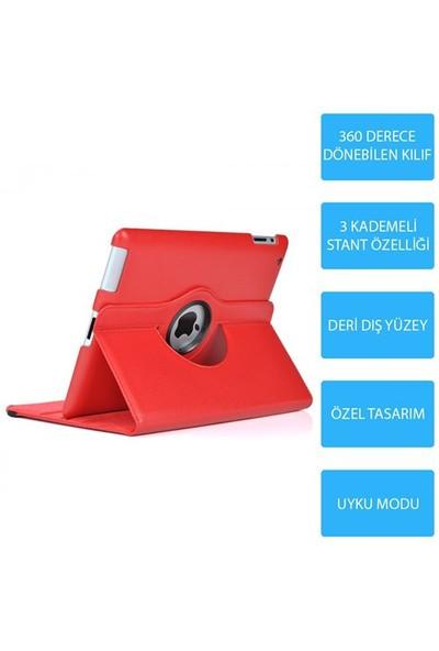 Mobile World iPad Air 2 360 Derece Dönebilen Kırmızı Tablet Kılıfı