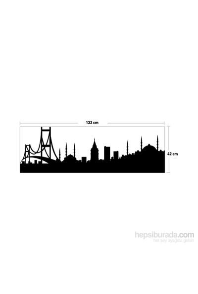 İstanbul-7 Kadife Duvar Sticker 133X42 Cm