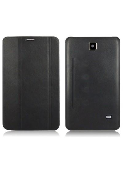 Romeca Samsung Galaxy Tab 4 7.0'' T230 Siyah Book Cover+Ekran Koruyucu +Tablet Kalemi Hediyeli