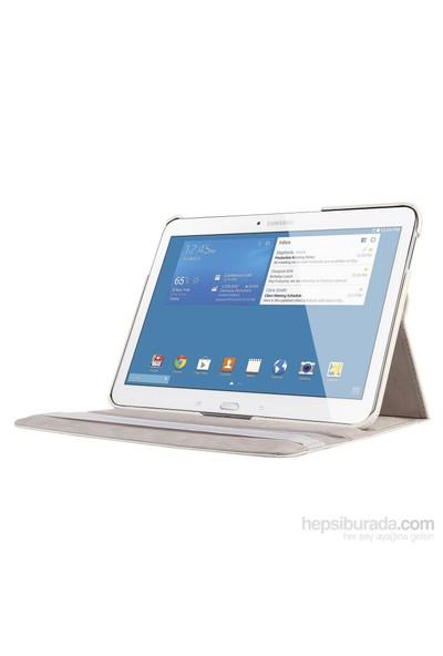 Romeca Samsung Galaxy Tab 4 10.1'' T530 360° Dönebilen Beyaz Stand Kılıf