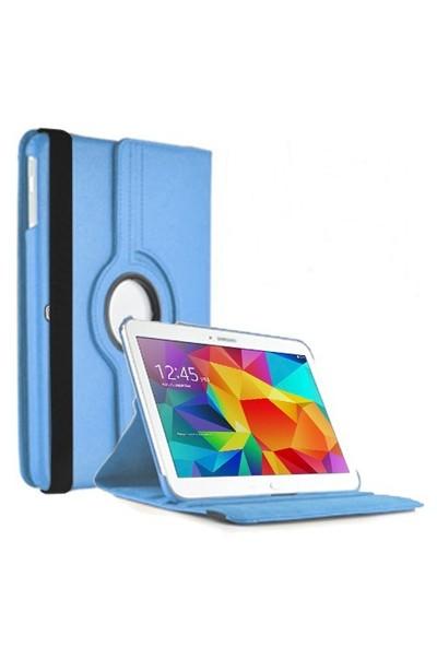 Romeca Samsung Galaxy Tab 4 10.1'' T530 360° Dönebilen Mavi Stand Kılıf