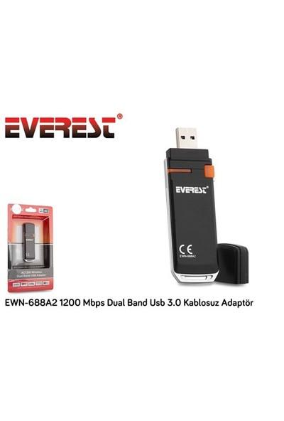 Everest Ewn-688A2 1200 Mbps Dual Band Usb 3.0 Kablosuz Adaptör