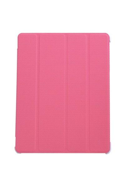 Inca Darkshark Pembe Deri iPad 2/iPad 3/iPad 4 Smart Kılıf&Stand (IKPD-024P)