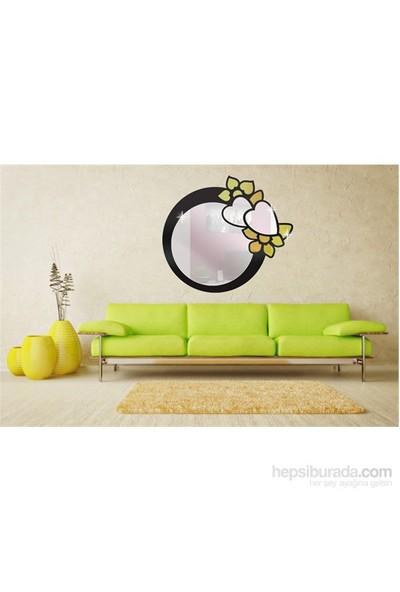 Stickerli Kalp Ve Daire Dekoratif Ayna