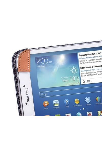 Eye-Q EQ-LT310K Samsung Tab 3 T310 Kot Kumaşı Tablet Kılıfı
