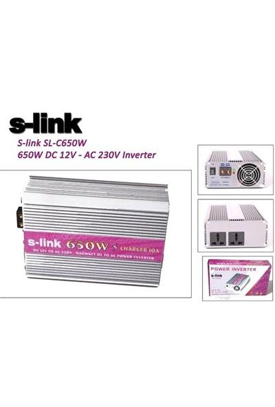 S-Link Sl-C650w 650W Dc 12V - Ac 230V Inverter