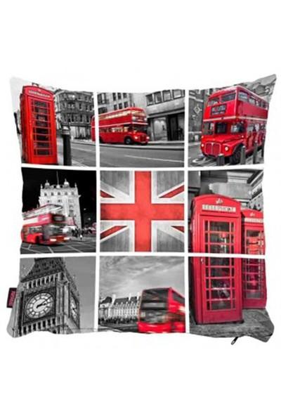 Bengü Accessories Londra Konseptli Dekoratif Yastık 5 40X40 Cm