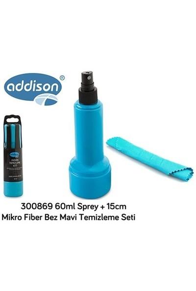 Addison 300869 60Ml Sprey + 15Cm Mikro Fiber Bez Mavi Temizleme Seti