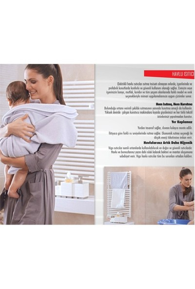 Vigo Elektrikli Havlu Isıtıcı 450 Watt Beyaz Ehr5019b450