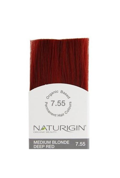 Naturigin Organik İçerikli Saç Boyası Orta Alev Kızılı 7.55