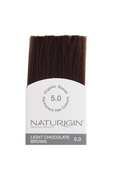 Naturigin Organik İçerikli Saç Boyası Açık Çikolata Kahverengi 5.0