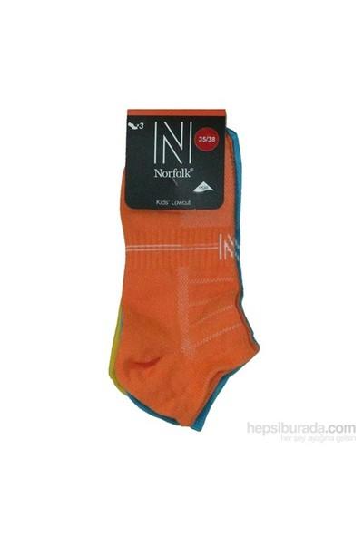 Norfolk Çocuk 3'Lü Çorap Turuncu Mavi Sarı