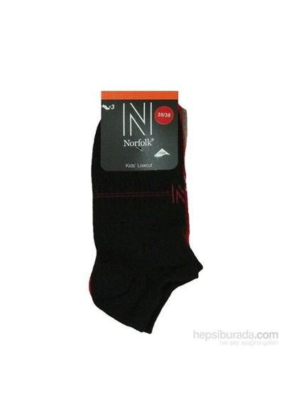 Norfolk Çocuk 3'Lü Çorap Siyah Kırmızı Gri