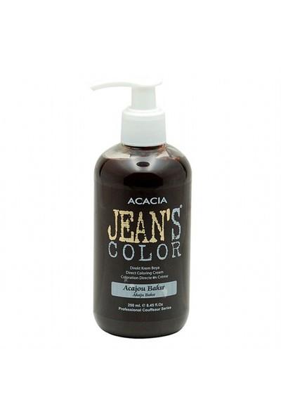 Acacia Jean's Color Su Bazlı Amonyaksız Saç Boyası (Akaju Bakır)