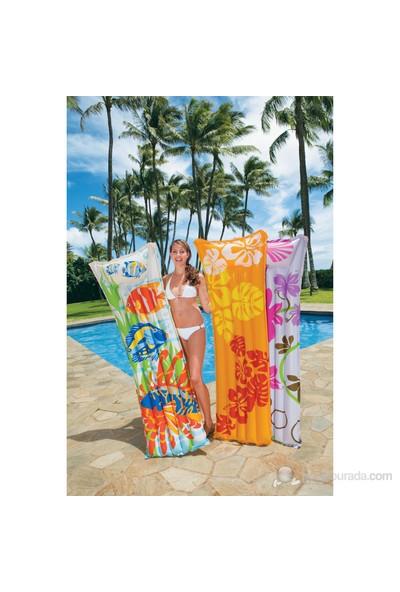 Intex 59720 Renkli Desenli Deluxe Deniz & Havuz Yatağı ( 183 cm x 69 cm )