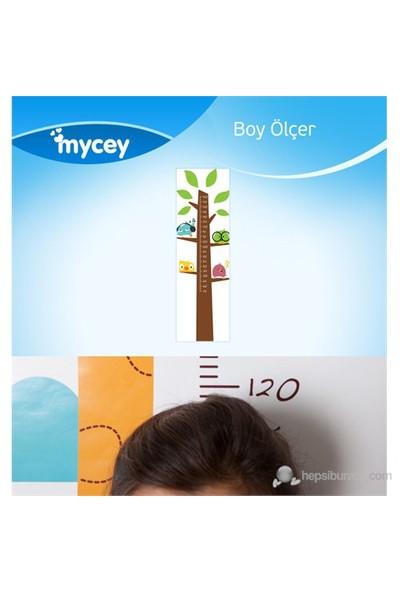 Mycey Boy Ölçer Sticker / Kuş Ailesi Ağaçta