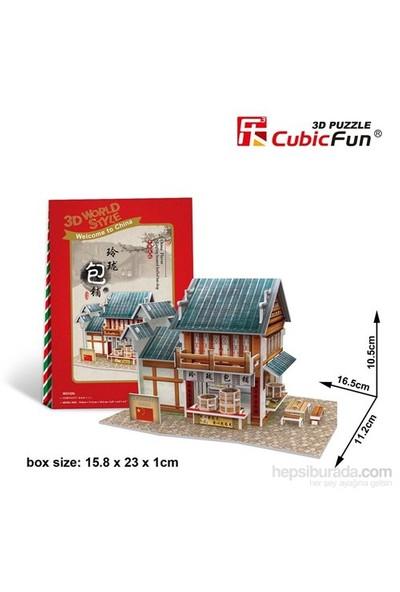 Cubic Fun 3D 39 Parça Maket Chinese Linglong Steamed Stuffed Bun Shop
