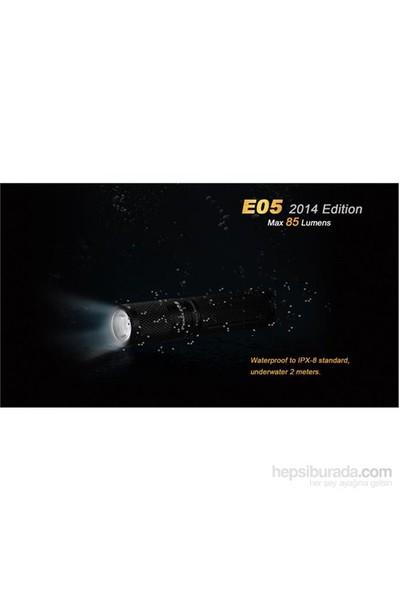 Fenix E05 Anahtarlık Fener 85 Lümen Mor