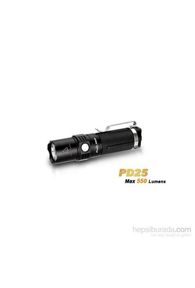 Fenix PD25 Siyah El Feneri 550 Lümens